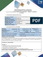 Guía de actividades y rúbrica de evaluación - Tarea 3 - Equilibrio y cinética (1).pdf