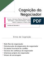 cap 10 Cognição do Negociador
