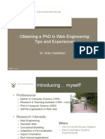 Obtaining a PhD in Web Engineering, Tips and Experinces
