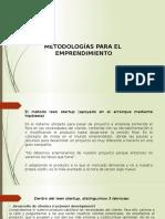 METODOLOGÍAS PARA EL EMPRENDIMIENTO