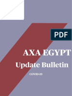 AXA - Medical - AXA Egypt Services Changes for COVID-19 - Update Bulletin -  04.05.20
