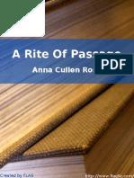 Anna Cullen Ross - A Rite Of Passage