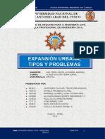 GRUPO 5 EXPANSION URBANA TIPOS Y PROBLEMAS