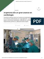 Argentina dio un gran avance en cardiología