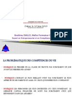 PRESENTATION COMPETENCES DE VIE DAKAR 2019