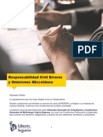 Condicionado General RC Errores y Omisiones Miscelanea