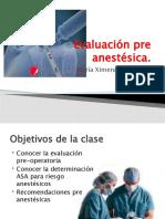 Evaluación pre anestésica