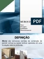 MUROS DE ARRIMO. Tipos Drenagem Estabilidade Dimensionamento.pdf