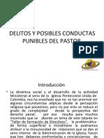 Delitos Y Posibles conductas Punibles Del Pastor III