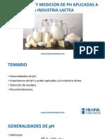 Importancia y medición de pH aplicadas a la industria láctea