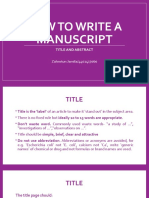 ZAHROTUN JAMIMA_4401417060_HOW TO WRITE A MANUSCRIPT-TITLE AND ABSTRACT.pptx