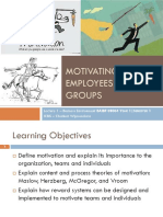 Lec 1 - Motivating employees and groups