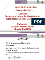 LECTURA ADMINISTRACIÓN DE LA CADENA DE SUMINISTROS