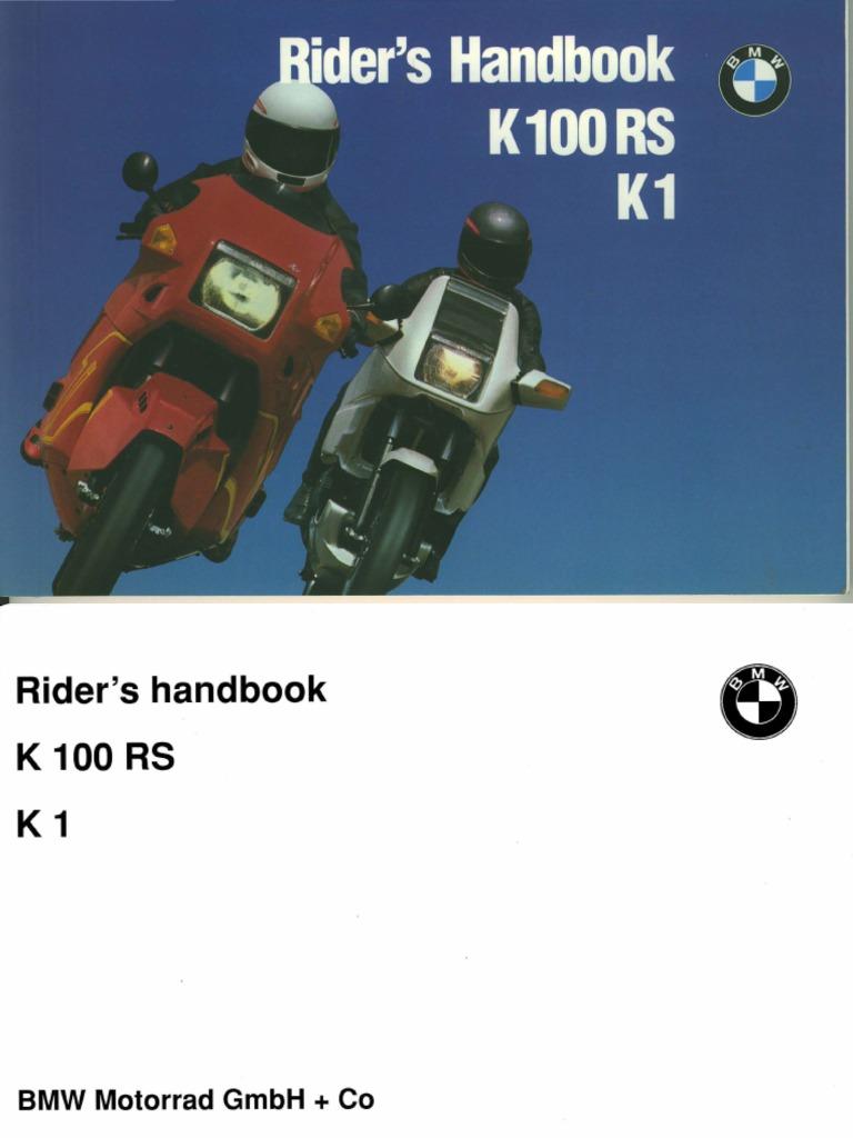 Bmw Riders Handbook K100rs K1 Clutch Screw K100 Fuse Box
