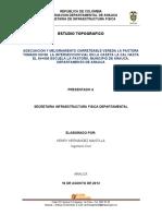 Estudio Topografico Carreteable La Pastora