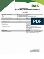 Aloe vera Base Alcohol-Glicerina