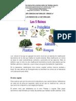 TALLER CIENCIAS NATURALES  GRADO 4 SEGUNDA SEMANA