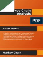 Markov Chain Analysis by Midhun N Madhav