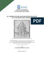 El Discurso como Componente  Epistemológico en la investigación científica