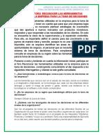 2.5 EVIDENCIA FORO  RECONOCER LAS HERRAMIENTAS UTILIZADAS EN LA EMPRESA PARA LA TOMA DE DECISIONES