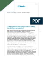 Coke prevention during steam cracking for ethylene production. - Kurita EN