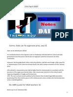 The-HINDU-Notes-23rd-April-2020