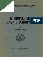 Marina I. Lupaş - Mitropolitul Sava Brancovici (1656-1683).pdf