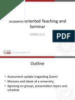 GENA1113, 2020, Seminar 2 BB