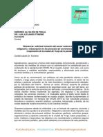 Documento sector cultural Tunja alcaldia emergencia  covid 19