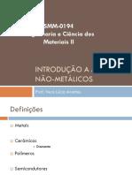 AULA 1 Introdução a Materiais não-metálicos