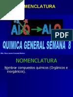 CLASE QUIMICA  8   NOMENCLATURA