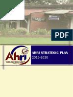 AHRI Strategic plan 2016-2020