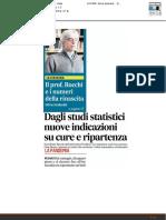 Dagli studi statistici nuovi dati su cure e ripartenza - Il Corriere Adriatico del 26 aprile 2020
