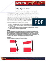 Tension of Pulley Alignment