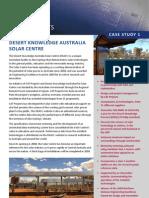 DESERT KNOWLEDGE AUSTRALIA SOLAR CENTRE Brochure