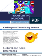 Challenges of Translating Humour