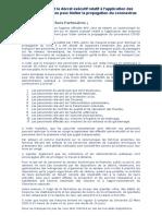 Concernant le décret exécutif relatif à la propagation du coronavirus