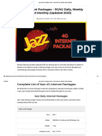 Jazz Internet Packages 3G_4G - Daily, Weekly & Monthly (2020 Updated).pdf