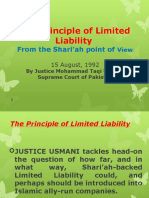 The Principle of Limited Liability