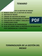 TERMINOLOGÍA DE LA GESTÓN DEL RIESGO