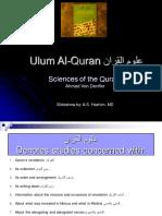 Ulum Ul Quran Ppt