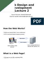 Web Design and Development Lecture 2