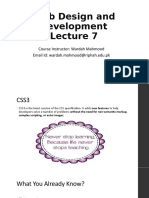 Web Design and Development Lecture 7 - CSS3