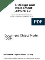 Web Design and Development Lecture 10 - DOM