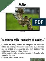 Mãe. Dedicatórias com imagens de animais