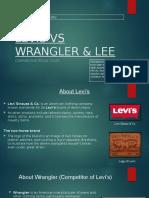 Presentation on Levis wrangler & Lee