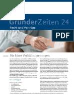 GruenderZeiten-24 Contratos en Aleman