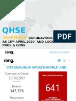 EHS Awareness ( Update on Coronavirus and Pros and Cons Lockdown)  Ghana  April wk16 2020