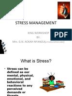 EHS Awareness (Stress Management) – Ghana – Jan W4, 2020
