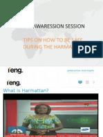 EHS Awareness (EHS Tips for Harmattan Season) – Ghana – Feb W7, 2020